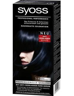 Syoss Professional Performance Coloration 1-4 blauschwarz  (115 ml) - 4015100010763