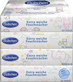 Bübchen Feuchttücher sensitiv  (4 x 56 St.) - 7613035767027