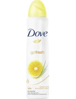 Dove Go Fresh Deo Spray grapefruit & lemongrass scent  (150 ml) - 8712561315821