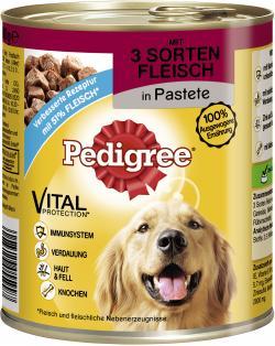 Pedigree Pastete mit 3 Sorten Fleisch  (820 g) - 4008429040726
