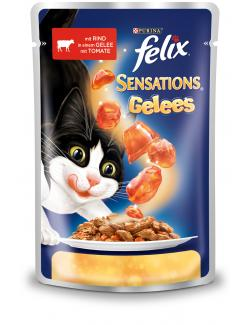 Felix Sensations mit Rind in Gelee mit Tomate  (100 g) - 7613032628888