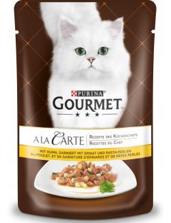 Gourmet A la Carte mit Huhn & Pasta-Perlen  (85 g) - 7613032729400
