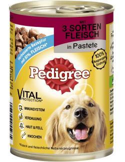 Pedigree 3 Sorten Fleisch in Pastete  (400 g) - 4008429040610