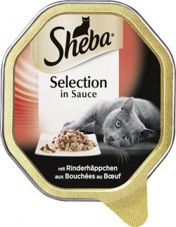 Sheba Selection in Sauce mit Rinderhäppchen  (85 g) - 4008429038105