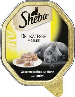 Sheba Genuss in Gelee Geschnetzeltes mit Huhn  (85 g) - 4008429070075