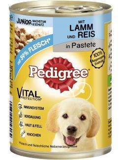 Pedigree Junior Wachstum & Schutz Pastete mit Lamm & Reis  (400 g) - 4008429056062