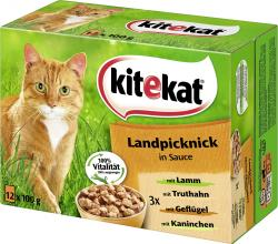 Kitekat Landpicknick in Sauce  (12 x 100 g) - 4008429011245
