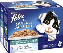 Felix So gut wie es aussieht mit Lachs, Scholle, Kabeljau und Thunfisch  (12 x 100 g) - 7613031294152
