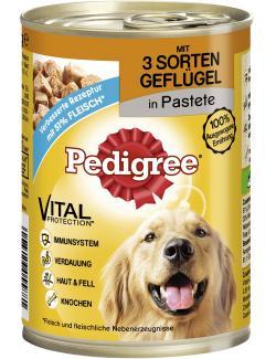 Pedigree Pastete mit 3 Sorten Gefl�gel  (400 g) - 4008429055881