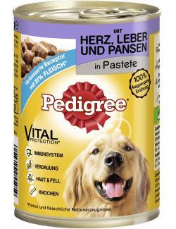 Pedigree Pastete mit Herz, Leber & Pansen  (400 g) - 4008429055959