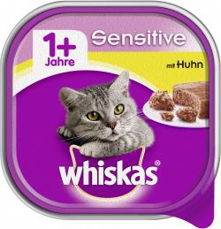 Whiskas 1+ Sensitive mit Huhn  (100 g) - 4008429049675