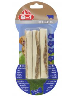 8in1 Delights Kausticks mit Rindfleisch  (3 St.) - 4048422108856