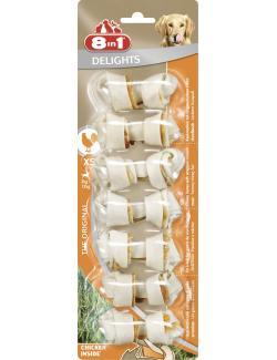 8in1 Delights Kauknochen mit Hähnchenfleisch XS  (7 St.) - 4048422102373