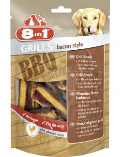 8in1 Grills Bacon Style Grill-Snack  (90 g) - 4048422111818