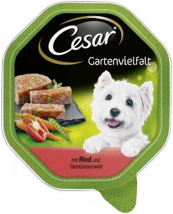 Cesar Gartenvielfalt mit Gem�sekern mit Rind & Gem�seauswahl  (150 g) - 3065890114067