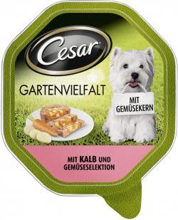 Cesar Gartenvielfalt mit Kalb und Gem�seselektion  (150 g) - 3065890114418