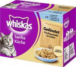 Whiskas Sanfte K�che ged�nstet Fischauswahl in Gelee  (12 x 85 g) - 4770608233006