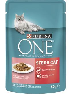 Purina One Sterilcat Lachs & Karotte  (85 g) - 7613034452672