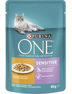 Purina One Sensitive Huhn & Karotten  (85 g) - 7613034452634