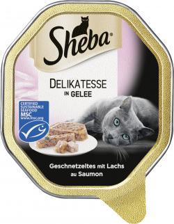 Sheba Genuss in Gelee Geschnetzeltes mit Lachs  (85 g) - 4008429046971
