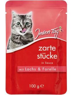 Jeden Tag Zarte Stücke in Sauce mit Lachs & Forelle  (100 g) - 4306180182168