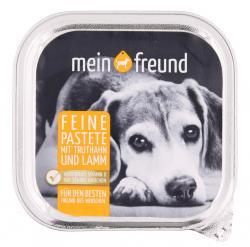 Mein Freund Hund Feine Pastete Truthahn und Lamm  (150 g) - 4306188303213