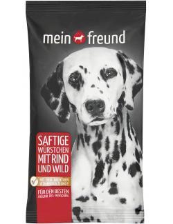 Mein Freund Hund Saftige Würstchen Rind und Wild  (70 g) - 4306188308515