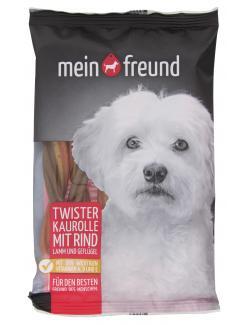 Mein Freund Hund Twister Kaurolle Rind, Lamm und Gefl�gel  (6 St.) - 4306188308454