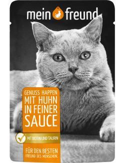Mein Freund Katze Genuss Happen mit Huhn in feiner Sauce  (100 g) - 4306188302513