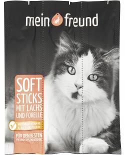 Mein Freund Katze Softsticks mit Lachs und Forelle  (3 St.) - 4306188307914