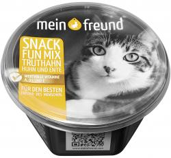 Mein Freund Katze Snack Fun-Mix mit Truthahn, Huhn und Ente  (60 g) - 4306188309024