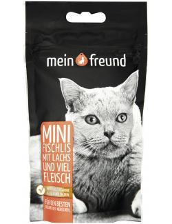 Mein Freund Katze Mini Fischlis mit Lachs und viel Fleisch  (40 g) - 4306188308393