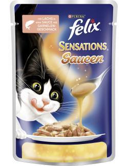 Felix Sensations So�en-Sause mit Lachs in So�e mit Garnelengeschmack  (100 g) - 7613034496140