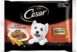 Cesar Feines im Frischebeutel Selektion in Sauce  (4 x 100 g) - 5900951253553
