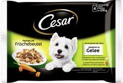 Cesar Feines im Frischebeutel Selektion in Gelee  (4 x 100 g) - 5900951253577
