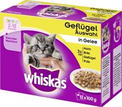 Whiskas Junior Geflügel Auswahl in Gelee  (12 x 100 g) - 4008429074158