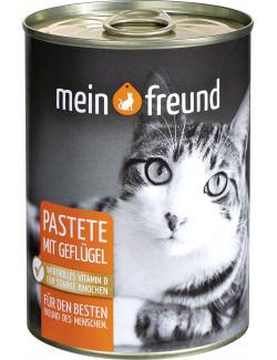 Mein Freund Katze Pastete mit Geflügel  (400 g) - 4306188349488