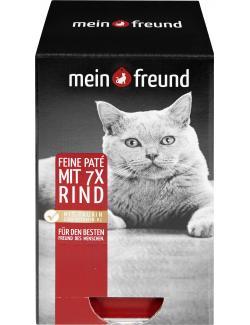 Mein Freund Katze Feine Pat� mit Rind  (7 x 90 g) - 4306188353515