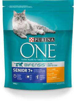Purina One Bifensis Senior 7+ Huhn  (800 g) - 7613035614468