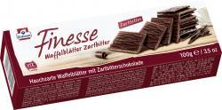 Grabower Finesse Waffelblättchen zartbitter  (100 g) - 4001453004009