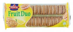Nora Fruit Duo Doppelkeks mit Zitronencremefüllung  (250 g) - 5290027001349