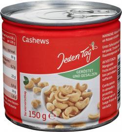 Jeden Tag Cashew-Kerne geröstet & gesalzen  (150 g) - 4306188052050