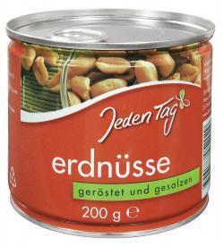 Jeden Tag Erdnüsse geröstet & gesalzen  (200 g) - 4306188052029