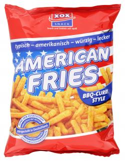 Xox American Fries BBQ-Curry Style  (125 g) - 4031446809120