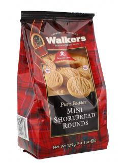 Walkers Pure Butter Mini Shortbread Rounds  (125 g) - 39047017672