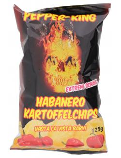 Pepper-King Habanero-Kartoffelchips  (125 g) - 4260168310076