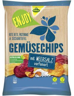 K�hne Enjoy Gem�sechips mit Meersalz verfeinert  (75 g) - 4012200328002