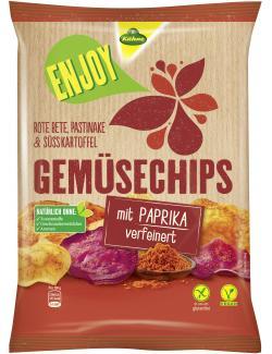 K�hne Enjoy Gem�sechips mit Paprika verfeinert  (75 g) - 4012200328101