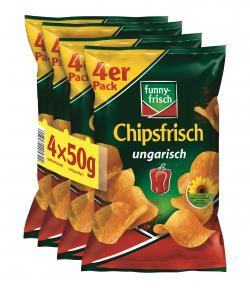 Funny-frisch Chipsfrisch ungarisch 4er Pack  (4 x 50 g) - 4003586006851
