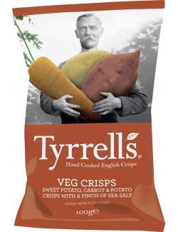 Tyrrells Vegetable Chips Sweet Potato Carrot & Potato  (100 g) - 5060042646289